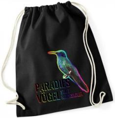 """Zum Sportbeutel """"Paradiesvögel statt Reichsadler"""" für 15,00 € gehen."""