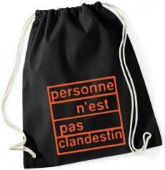 """Zum Sportbeutel """"personne n´est pas clandestin (orange)"""" für 8,00 € gehen."""