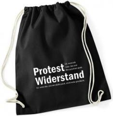 """Zum Sportbeutel """"Protest ist, wenn ich sage, das und das passt mir nicht. Widerstand ist, wenn das, was mir nicht passt, nicht mehr geschieht."""" für 8,00 € gehen."""