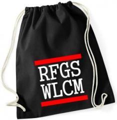 """Zum Sportbeutel """"RFGS WLCM"""" für 8,00 € gehen."""