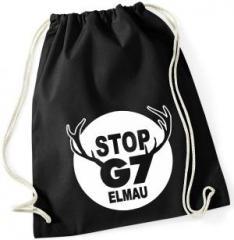 """Zum Sportbeutel """"Stop G7 Elmau"""" für 7,80 € gehen."""