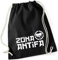 """Zum Sportbeutel """"Zona Antifa"""" für 8,00 € gehen."""