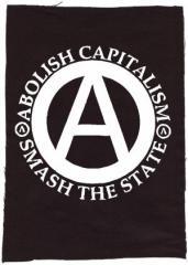 """Zum Rückenaufnäher """"Abolish Capitalism - Smash The State"""" für 3,00 € gehen."""