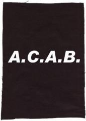 """Zum Rückenaufnäher """"A.C.A.B."""" für 3,00 € gehen."""