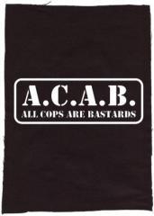 """Zum Rückenaufnäher """"A.C.A.B. - All cops are bastards"""" für 3,00 € gehen."""