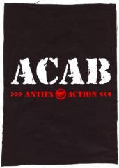 """Zum Rückenaufnäher """"ACAB Antifa Action"""" für 3,00 € gehen."""