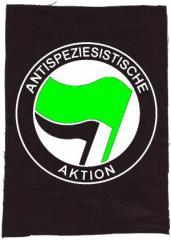 """Zum Rückenaufnäher """"Antispeziesistische Aktion (grün/schwarz)"""" für 3,00 € gehen."""
