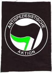 """Zum Rückenaufnäher """"Antispeziesistische Aktion (schwarz/grün)"""" für 3,00 € gehen."""