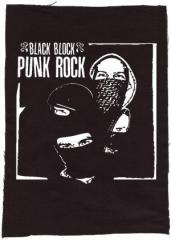 """Zum Rückenaufnäher """"Black Block Punk Rock"""" für 3,00 € gehen."""