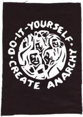 """Zum Rückenaufnäher """"do it yourself - create anarchy"""" für 3,00 € gehen."""