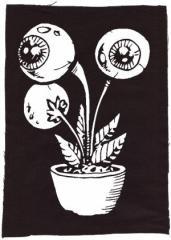 """Zum Rückenaufnäher """"Eyeflower"""" für 3,00 € gehen."""