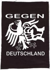 """Zum Rückenaufnäher """"Gegen Deutschland"""" für 3,00 € gehen."""