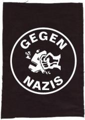 """Zum Rückenaufnäher """"Gegen Nazis (rund)"""" für 3,00 € gehen."""