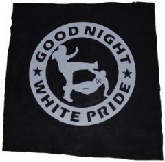 """Zum Rückenaufnäher """"Good Night White Pride (dicker Rand)"""" für 2,92 € gehen."""