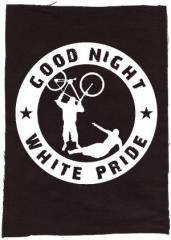 """Zum Rückenaufnäher """"Good Night White Pride - Fahrrad"""" für 3,00 € gehen."""