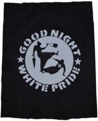 """Zum Rückenaufnäher """"Good Night White Pride - Oma"""" für 3,00 € gehen."""