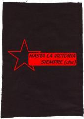 """Zum Rückenaufnäher """"Hasta la victoria siempre (che)"""" für 3,00 € gehen."""