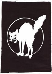 """Zum Rückenaufnäher """"Katze"""" für 3,00 € gehen."""