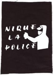 """Zum Rückenaufnäher """"Nique la Police"""" für 3,00 € gehen."""