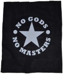 """Zum Rückenaufnäher """"No Gods No Masters"""" für 3,00 € gehen."""