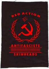 """Zum Rückenaufnäher """"Red Action"""" für 3,00 € gehen."""