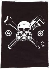 """Zum Rückenaufnäher """"Skull - Gasmask"""" für 3,00 € gehen."""