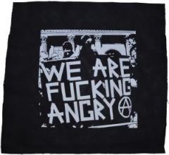 """Zum Rückenaufnäher """"We are fucking Angry!"""" für 3,00 € gehen."""