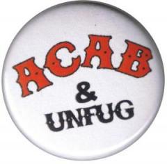 """Zum 37mm Magnet-Button """"ACAB und Unfug"""" für 2,50 € gehen."""