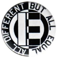 """Zum 37mm Magnet-Button """"All different but all equal"""" für 2,50 € gehen."""