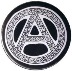 """Zum 37mm Magnet-Button """"Anarchie - Tribal (schwarz)"""" für 2,44 € gehen."""