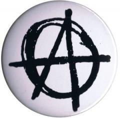 """Zum 37mm Magnet-Button """"Anarchie (weiß)"""" für 2,44 € gehen."""