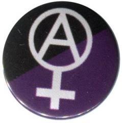 """Zum 37mm Magnet-Button """"Anarcho-Feminismus (schwarz/lila)"""" für 2,50 € gehen."""