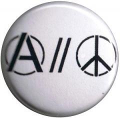 """Zum 37mm Magnet-Button """"Anarchy and Peace"""" für 2,44 € gehen."""