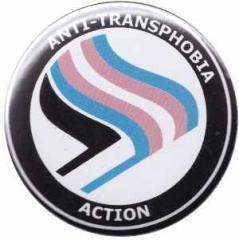 """Zum 37mm Magnet-Button """"Anti-Transphobia Action"""" für 2,50 € gehen."""