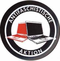 """Zum 37mm Magnet-Button """"Antifaschistische Aktion (Notebooks)"""" für 2,63 € gehen."""