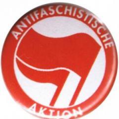 """Zum 37mm Magnet-Button """"Antifaschistische Aktion (rot/rot)"""" für 2,50 € gehen."""