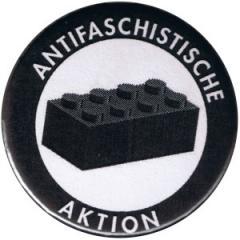 """Zum 37mm Magnet-Button """"Antifaschistische Aktion - schwarzer Block"""" für 2,50 € gehen."""