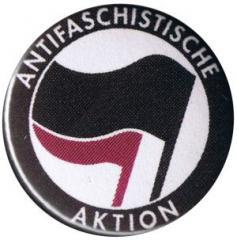 """Zum 37mm Magnet-Button """"Antifaschistische Aktion (schwarz/lila)"""" für 2,50 € gehen."""