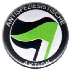"""Zum 37mm Magnet-Button """"Antispeziesistische Aktion (schwarz-grün/schwarz)"""" für 2,44 € gehen."""