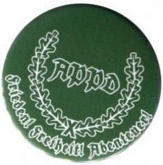"""Zum 37mm Magnet-Button """"APPD Ährenkranz Frieden! Freiheit! Abenteuer! (grün)"""" für 2,50 € gehen."""