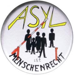 """Zum 37mm Magnet-Button """"Asyl ist Menschenrecht"""" für 2,50 € gehen."""