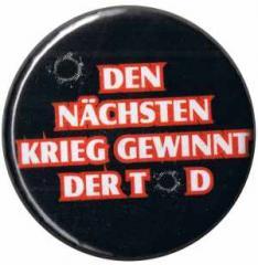 """Zum 37mm Magnet-Button """"Den nächsten Krieg gewinnt der Tod"""" für 2,50 € gehen."""