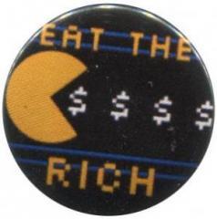 """Zum 37mm Magnet-Button """"Eat the rich"""" für 2,50 € gehen."""