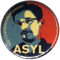 """Zum 37mm Magnet-Button """"Edward Snowden ASYL"""" für 2,50 € gehen."""