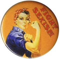 """Zum 37mm Magnet-Button """"Fight sexism"""" für 2,50 € gehen."""