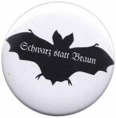 """Zum 37mm Magnet-Button """"Fledermaus - schwarz statt braun"""" für 2,50 € gehen."""