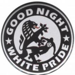 """Zum 37mm Magnet-Button """"Good night white pride (Dresden)"""" für 2,63 € gehen."""