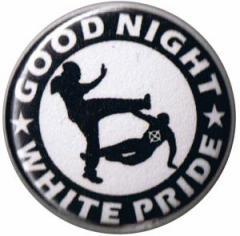 """Zum 37mm Magnet-Button """"Good night white pride (schwarz/weiß)"""" für 2,50 € gehen."""
