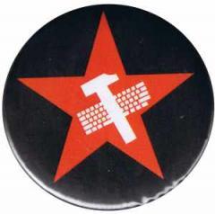 """Zum 37mm Magnet-Button """"Hammer und Tastatur Stern"""" für 2,50 € gehen."""