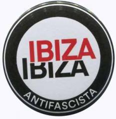 """Zum 37mm Magnet-Button """"Ibiza Ibiza Antifascista (Schrift)"""" für 2,44 € gehen."""
